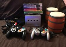 Nintendo Gamecube System Bundle Lot 7 Games 2 Controllers *TESTED* NICE