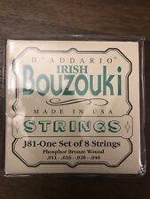 D' Addario J81, 8 String Irish Bouzouki Phosphor Bronze Wound Set 11-40