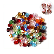 Beads Spacer Wholesale 4mm 6mm Faceted Multiple Crystal Loose Glass Bicone