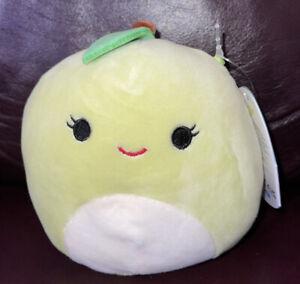 "New Squishmallow Ashley Apple 5"" Rare Size Squishmallows Fruit Squad"