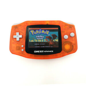 Transparent Orange Game Boy Advance GBA Console AGS-101 Backlight Screen