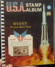 U.S.A. STAMP ALBUM SCOTT THE GREAT HOME IN STAMPS WITH SOME STAMPS 1971 ALBUM