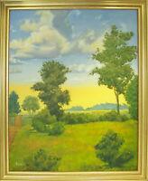 Original, Signed & Framed Oil – SUMMER DUSK – J. Cordula, (aka Laura den Hertog)