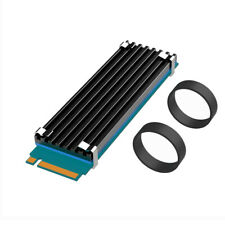 for Desktops Aluminum with Thermal Silicone Pad M.2 SSD Heat Sink cigemay Hard Drive Heat Sink