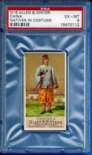 """1886 Allen & Ginter N16 Natives in Costume """"China"""" Psa 6"""