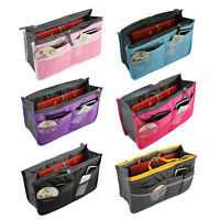 Stylish Women Travel Bag Insert Liner Purse Organizer Large Tidy Storage Handbag