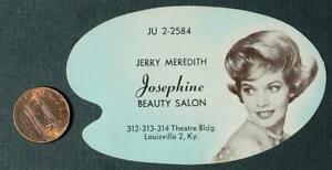 1960s Era Louisville Kentucky Josephine Beauty Salon Photo diecut business card!