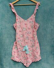 Disney Ladies Sleep Romper Size L UK 14/16 Pink Thumper Bambi Bunny Cartoon