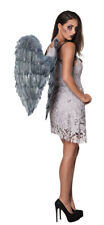 Large Angel Wings Fairy Fancy Dress Costume Adult Sleeping Grey Halloween 2ft