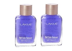Lakme Nail Colour Remover With Vitamin E Removes Color Completely 27ml Pack Of 2