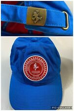 RARE Official Nintendo New York Promo Super Mario Strapback Hat Cap Blue