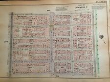 1925 UPPER WEST SIDE  MANHATTAN NYC G.W. BROMLEY ATLAS MAP 12X17