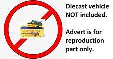Matchbox Lesney Honda 38c Trailer Decal Transfer Water slide not a Sticker