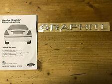 "NEUF origine Ford-Mondeo Graphite Chrome Hayon Badge Emblème ""Graphite"""