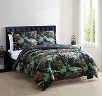Juvy Grunge Dinos Green/Black Comforter Set
