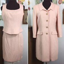 Vintage Escada 3 Piece Skirt Suit Blush Pink Skirt Jacket Shell 90s Career 38 40