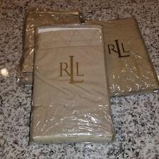 "New Ralph Lauren 3 Standard Shams- ANTIGUA KHAKI 20X26"""