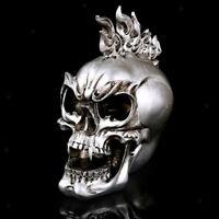 Gothic Skull Statue Figurine Human Skeleton Head Halloween Home Bar Decor
