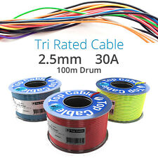 2.5mm Amarillo Tri nominal Automotive DC Cable 12v 30amp 1-100m Marina Telar de cableado