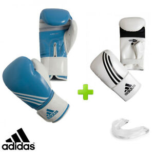 adidas Blue Fitness Boxing Gloves Set! Includes Bag Gloves & Mouthguard