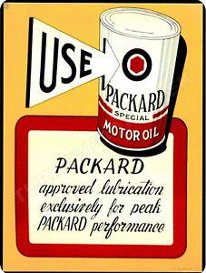 """PACKARD MOTOR OIL 9"""" x 12"""" Sign"""
