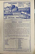 More details for shrewsbury v barnsley reserves midland league 1946/47
