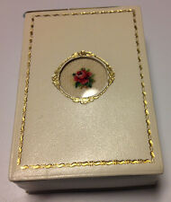 vintage leather cigarette case new in the box