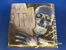 Creepy Bones Halloween Carnival Party Beverage Napkins