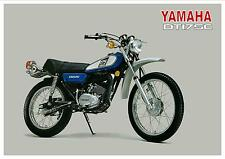 YAMAHA Poster DT175 DT175C Trail 1976 Suitable to Frame