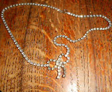 Unbranded Silver Necklace Vintage Costume Jewellery (1950s)