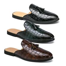 Mens Slip On Loafers Slides Shoes Summers Slippers Casual Tassel Flats Sandals