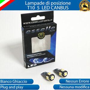 COPPIA LUCI DI POSIZIONE LED PEUGEOT 106 T10 W5W CANBUS 100% NO AVARIA LUCI