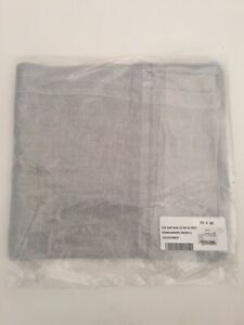 Restoration Hardware stonewashed Sheer Linen Drapery 50 X 96 Mist Blue Gray New