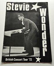 Stevie Wonder 1972 UK Tour Programme 21 x 29.5cm 8 Pages + Mac & Katie Kissoon
