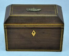 Antique Wooden Tea Caddy with two Compartments and Bone Accents.5.(BI#MK/181121)