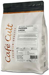 1000g Kaffee Best of Brazil Fazenda Lagoa, ganze Bohne, luftdicht verpackt