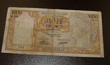 Algeria, 1000 Francs Bank Note, 21-1-1949