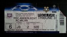 * Ticket ANDERLECHT BRUSSELS - AC MILAN 2006/07 Champions League Belgium Italy