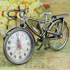 Retro Vintage Metal Bicycle Bike Clock Home Decoration Table Clock Ornament NEW
