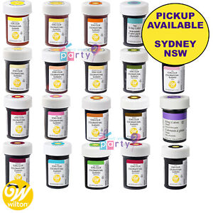 WILTON 1OZ ICING COLOURS GEL PASTE CAKE DECORATING SUPPLIES FOOD COLOURING