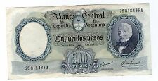 ARGENTINA NOTE 1967 500 PESOS Series A - P#278b - B#2122 - MC#94.1