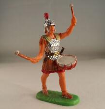 Elastolin n° 8406 soldat romain légionnaire musicien Trommler im marsch 7 cm