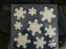 Floating Candles Set of 9 Snowflake Design - Beautiful Brand New