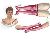 Uralte Teile zum Basteln einer Ballerina L&B - Papier Puppe Paperdoll