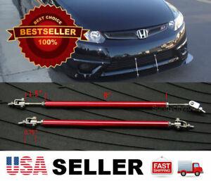 "Red 8"" adjustable extension Rod Bumper Lip Diffuser splitter For Toyota Lexus"
