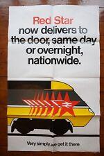 1985 Red Star Deliveries Parcels Original Railway Travel Poster