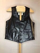 Colorado Trading Co Medium Black Leather Vest