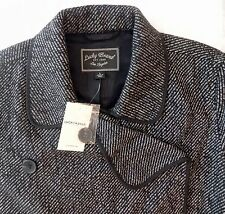 Lucky Brand Black Jacket Womans Large NWT Double Breasted Wool Blend New $189