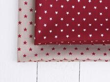 0,5 m Baumwolle Stoff beschichtet Acryl, Wasserabweisend, DunkelRot, Sterne