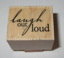 Laugh Out Loud Rubber Stamp Wood Mounted Hero Arts Greeting Sayings